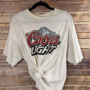 Vintage Coors Light 100% Cotton T-Shirt - XL